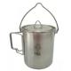 TBS 750ml Stainless Steel Billy Can Cup with Bail Handle & Lid